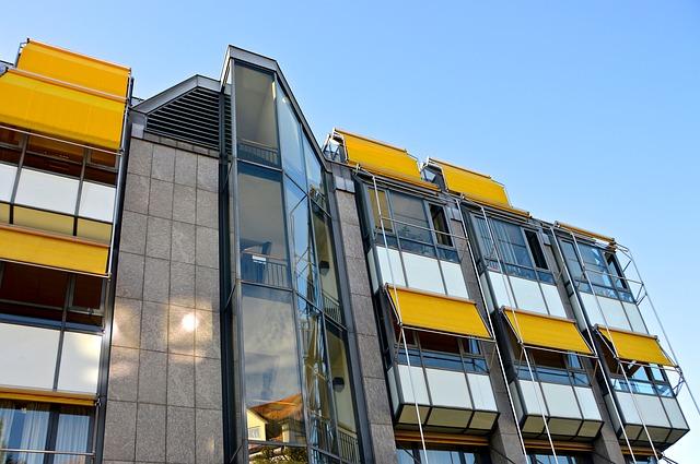 skleněné balkony, rolety