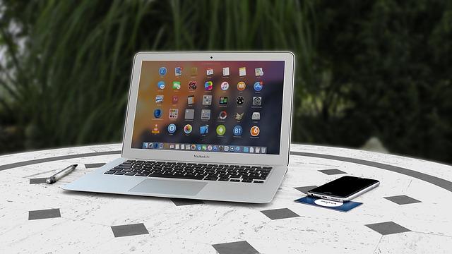 mobil, notebook, ikony