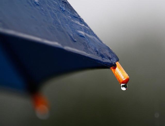 mokrý deštník