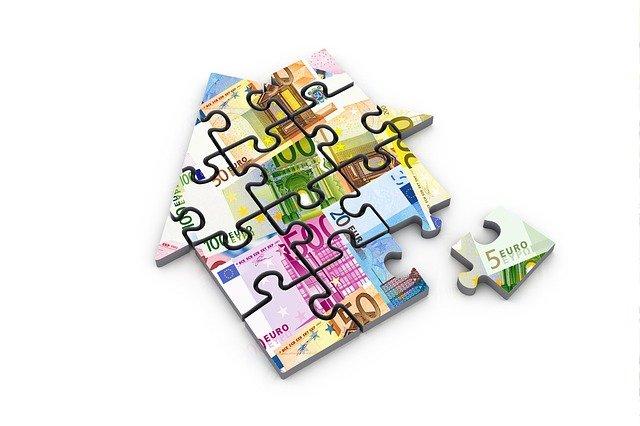 peníze na puzzle