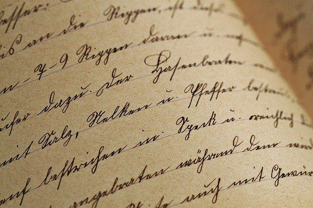 textura psaní